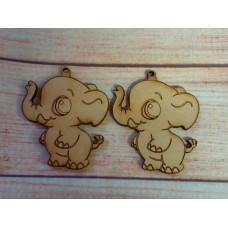 Laser Cut Elephant 60mm